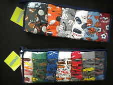 NWT Gymboree 7 Days of the Week Boys Briefs Sports 7-8 Muscle Cars 8-10