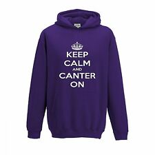 Keep Calm and Canter On Childrens Hoodies inc FREE name or horses name or both