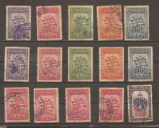 15 Old Stamps _ Costa Rica _ from 1942 _ Used
