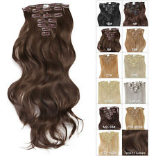 "Neitsi 22"" Long Wavy/Curly Clip In on Synthetic  Hair Extensions Pieces 7pcs"
