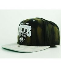 Mitchell & Ness BROOKLYN NETS Snapback Hat Black Grey Cap Cycle