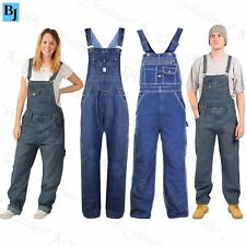 Womens Jeans Baggy Denim Ladies Short Length Pinafore Dungaree Overall Jumpsuits