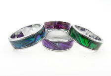 New Genuine Paua Shell Abalone Rings in Assorted Colors & Sizes #MR10