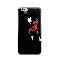 Jordan Chicago Bulls Basketball TPU Rubber Silicone Clear Cover Case For iPhone