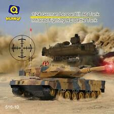 HUAN QI 516-10 1/18 Scale Infrared Fighting RC Battle Tank w/ Sound+Lights W2K4