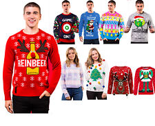 Xmas Ladies Mens Novelty Christmas Jumpers Retro Vintage Unisex Womens Sweaters