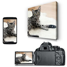 Square Personalised Canvas Photo Latex Print - UV Protected - Scratch Resistant