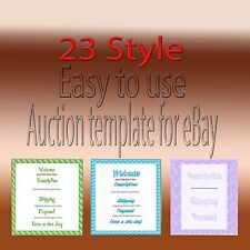 ebay auction listing animated glitter border template