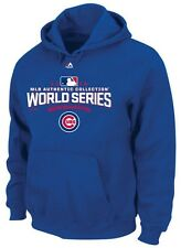 Chicago Cubs MLB Majestic Men's 2016 World Series Hoodie Royal Big & Tall Sizes