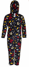 DISNEY Boys Mickey Mouse Onesie Fleece All In One Hooded Play Dress Up Character