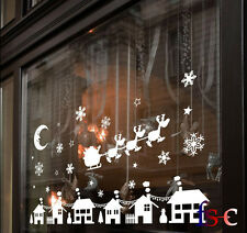 Christmas Bauble Shop Display Window Elk Decals Wall Window Stickers Decoration