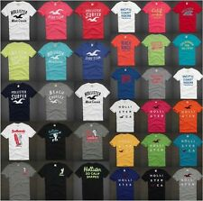 HOLLISTER BY ABERCROMBIE MENS T-SHIRT EMBROIDERED LOGOS TOP TEE SHIRT HCO CALI