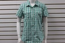 Women's Marmot Bree SS Plaid Shirt Gem Green 58910 New With BLEMISHES MSRP $55