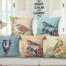 Country Style Throw Bird Bed Car Sofa Home Decor Pillow Case Cushion Cover Gift
