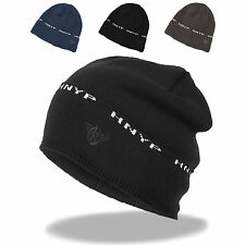Mens Winter Chunky Fold Up Cuff Knit Fleece Lined Beanie Ski Hat Skull Watch Cap