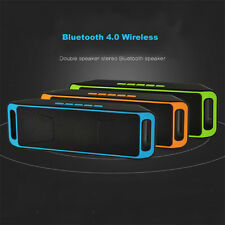 Mini Portable Wireless Speaker Bluetooth Stereo Subwoofer Speakers With FM Radio