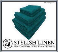 Egyptian Cotton BathTowel Sets Hand Face Mat 7 Pieces PieceNew 650GSM Teal Green