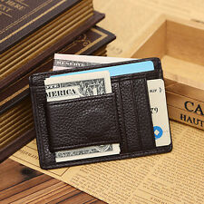 Men Faux Leather Money Clip Wallet Credit Card ID Holder Business Pocket Glitzy