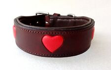 Pstore Quality Leather dog Collar  with heart design