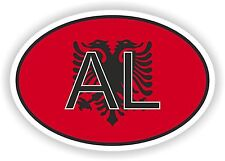 AL ALBANIA Oval Flag Vinyl Sticker / Vinyl Decal for Wall, Car, window, helmet