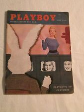 Vintage Playboy magazine march 1956 playmate Marian Stafford.