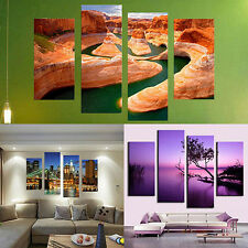 4X Frameless Canvas Painting Pictures Sketching Home Living Room Art Decor Sweet