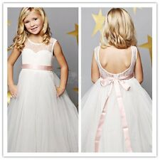 Girl Party Prom Princess Pageant Bridesmaid Wedding Flower Girl Dress US Stock