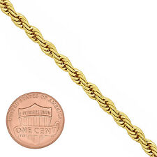 Men's 4mm Round Classic 14K Gold-Overlay Light French Rope Link Chain