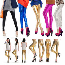 Sexy Thin Waist Women Faux Leather Stretch Skinny Pants Leggings Tight Trousers