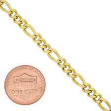 4.5mm 24K Gold Plated Miami Figaro Link Chain