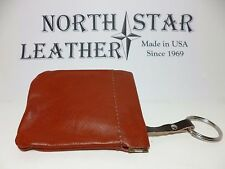 North Star Squeeze Open/Snap Shut Genuine Leather Key Pouch-Made In USA-#903