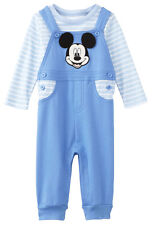 Disney Newborn Infant Boys Mickey Mouse 2-Piece Overall Set