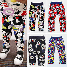 Baby Boys Girls Mickey Pants Trousers Infant Slack Sweatpants Toddler Infant