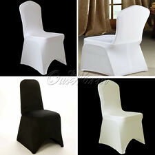10 Lycra Spandex Stretch Chair Covers Wedding Banquet Xmas Party Decor  3-Colors