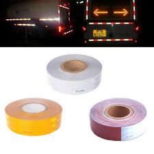 """Roll DOT-C2 Reflective Conspicuity Tape 2"""" x 150FT Truck Trailer Strip Red White"""