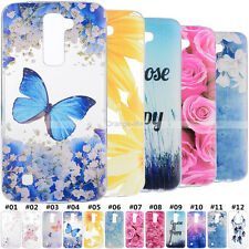 For LG Phones Rubber TPU Gel Soft Skin Back Retro Colorful Patterned Case Cover