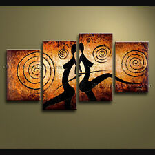 Handmade 4 Pieces Modern Abstract Painting Wall Art Figure Ready To Hang