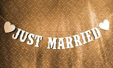 JUST MARRIED Wedding Banner Party Decoration Bunting Garland Western Handmade