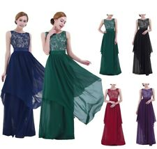 Women Formal Bridesmaid Evening Cocktail Wedding Gown Party Prom Long Dress Maxi