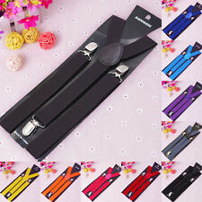 Fashion Mens Adjustable Women's Unisex Elastic Y-Shape Braces Clip-on Suspenders