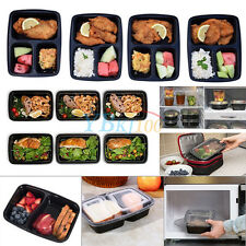 10pcs Microwave Plastic Meal Prep Container Box Picnic Food Storage Takeaway Hot
