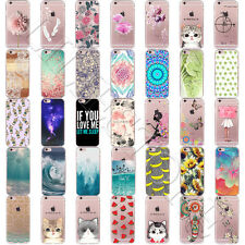 Silicone Soft TPU Hot Cat Patterned Clear Back Case Cover For iPhone 7 Plus / 7