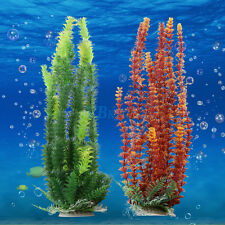 Beautiful Plastic Water Plant + Base Stone For Aquarium Fish Tank Ornament Decor
