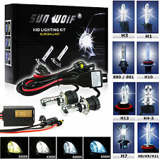 NEW QUICK START! XENON HID CONVERSION KIT HEADLIGHT H1 H3 H4 H7 H11 9004 9007
