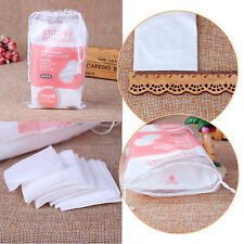 50/100pc Pure Cotton Puff Makeup Remover Face Facial Soft Wipes Pads Beauty Tool