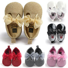 Baby Soft Sole Leather Shoes Newborn Girl Toddler Crib Moccasin Prewalker Gifts