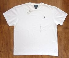 POLO RALPH LAUREN MENS NEW WHITE NAVY CREW NECK T-SHIRT TSHIRT TEE ALL SIZES