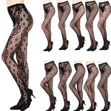 Sexy Womens Black Fishnet Floral Pantyhose Tights Punk Stockings Slim Mesh Socks