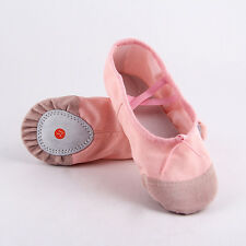 2pcs Chic Child Adult Canvas Ballet Dance Shoes Slippers Pointe Dance Gymnastics