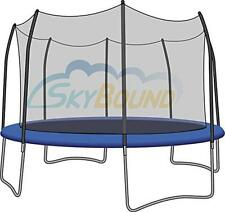 SkyBound Trampoline Net Fits Round 15 Ft. Frames Fits 8 Straight Curved Poles
